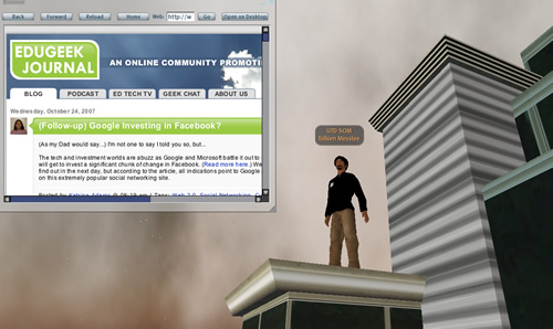 Web 3.0 and Second Life